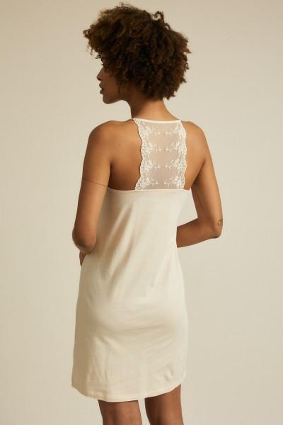 Lanius Kleid mit Spitze - sand