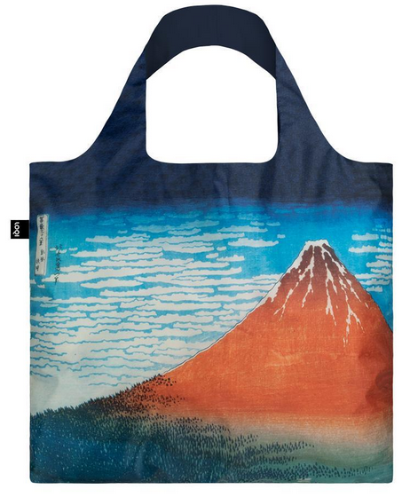 Loqi Tasche HOKUSAI Red Fuji, Mountains in Clear Weather - Museumskollektion