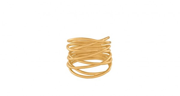 Pernille Corydon - Paris Ring aus Sterlingsilber mit 18 Karat vergoldet
