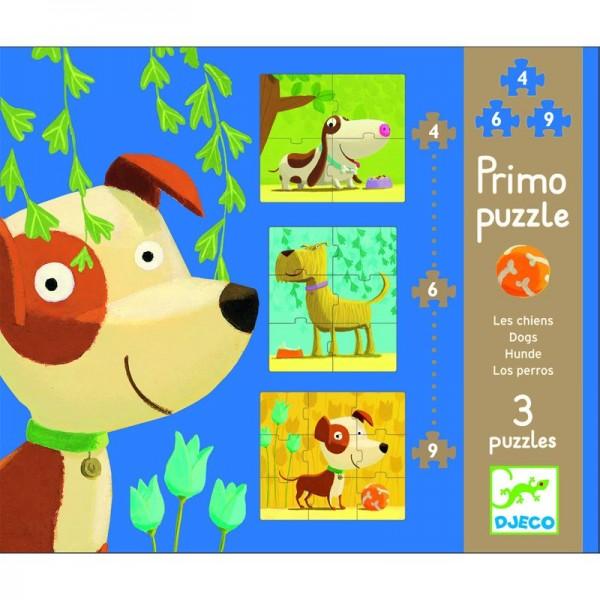 DJECO Primo Puzzle Hunde
