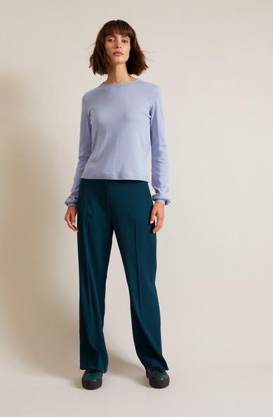 Pullover mit Ballonärmeln aus Bio-Baumwolle GOTS / Gr. 42