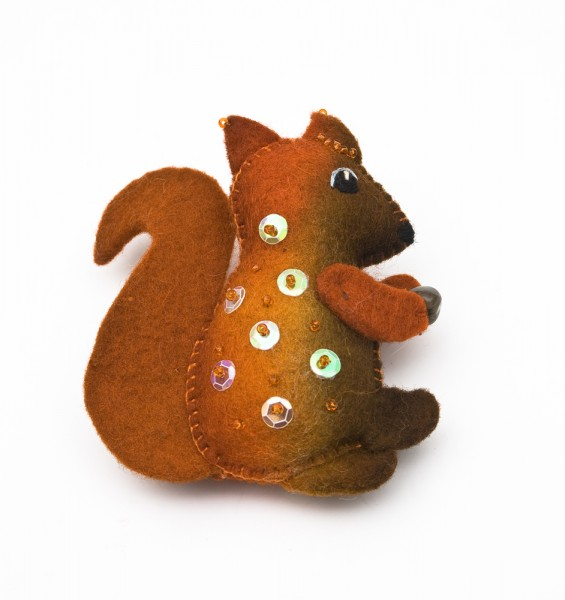 felt art - Eichhörnchen aus Filz.