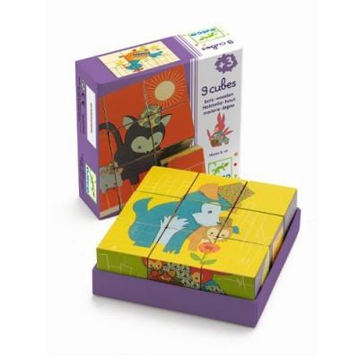 DJECO Würfelpuzzle 9 cubes / Miaou&Co