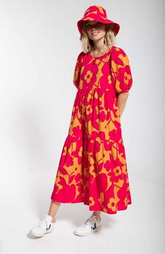 danefae - Kleid Juli fuchsia BLOOM BOOM
