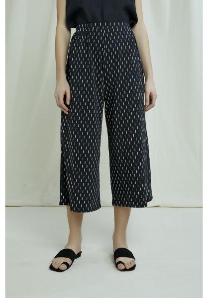people tree - Culotte Chandre Ikat Print Trousers - aus Bio-Baumwolle