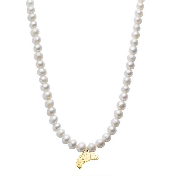 Croissant Pearl Necklace von Jukserei