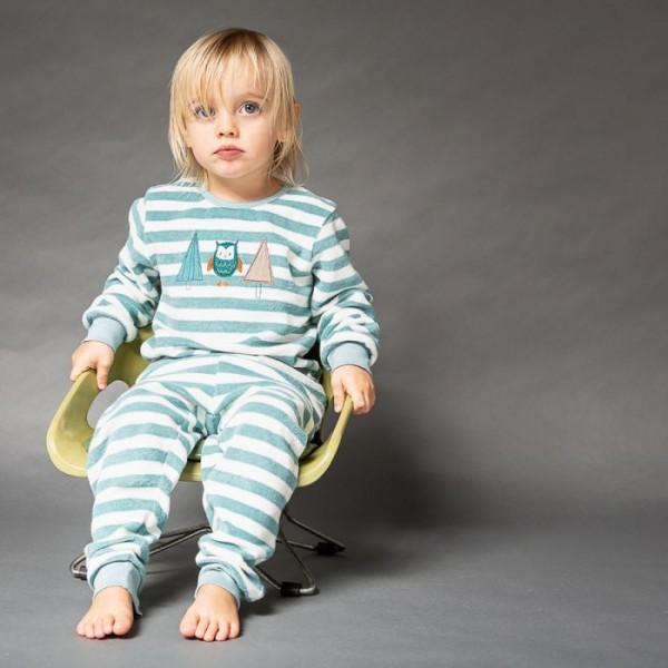 Sense-Organics - Pyjama Long-John OWL grün