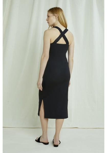 people Tree - Priti Cross Back Dress in black