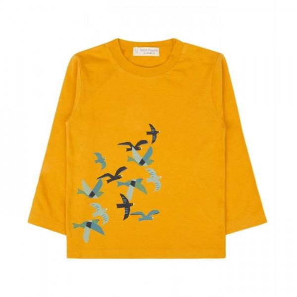 Sense-Organics REMO Baby Langarm Shirt mit Vögeln