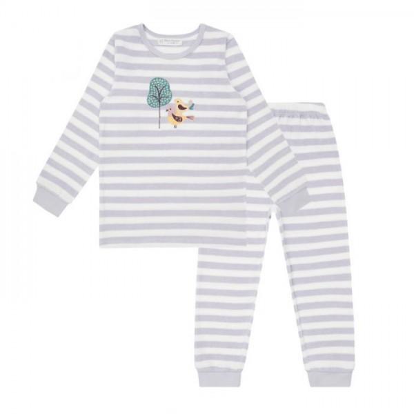 Sense-Organics - Pyjama Long-John BIRDS lila