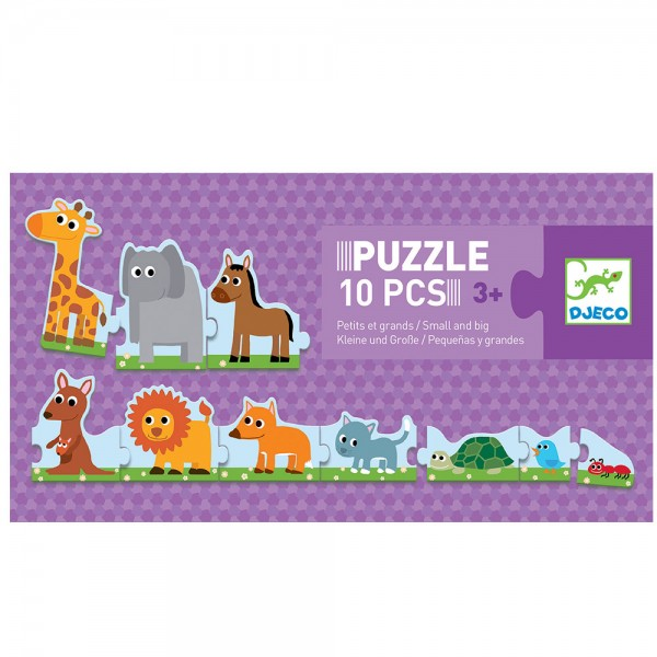 DJECO Puzzle 10 PCS / Kleine und Große - 3+