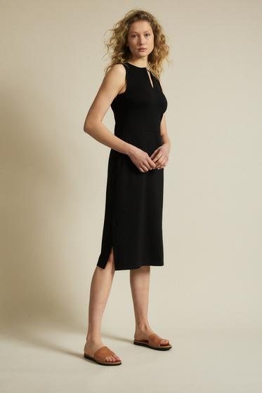Lanius Midikleid aus Bio-Baumwolle mit TENCEL™ Modal - black