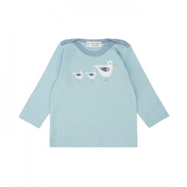 Sense-Organics LUNA Baby shirt hellblau mit Möwen