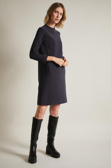 Lanius Kleid GOTS aus Bio-Baumwolle / night blue melange