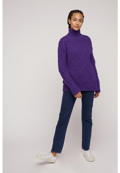 Fisherman's Jumper in Purple