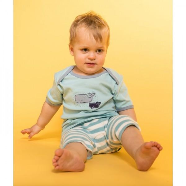 Sense-Organics - EMILIO Baby Frottee Shorts, hellblau