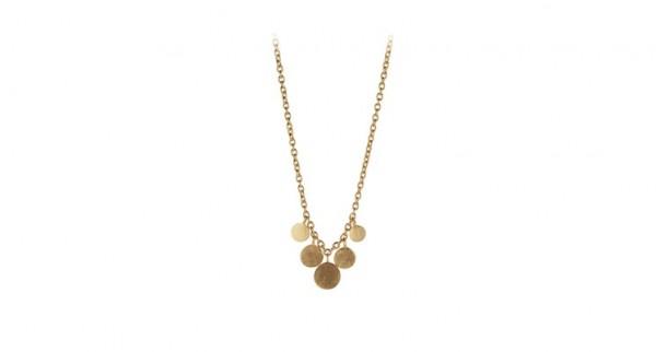 Pernille Corydon - Mini Coin Necklace aus Sterlingsilber mit 18 Karat vergoldet