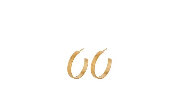 Pernille Corydon - Edith Hoops - Sterling Silber mit 18 Karat vergoldet-