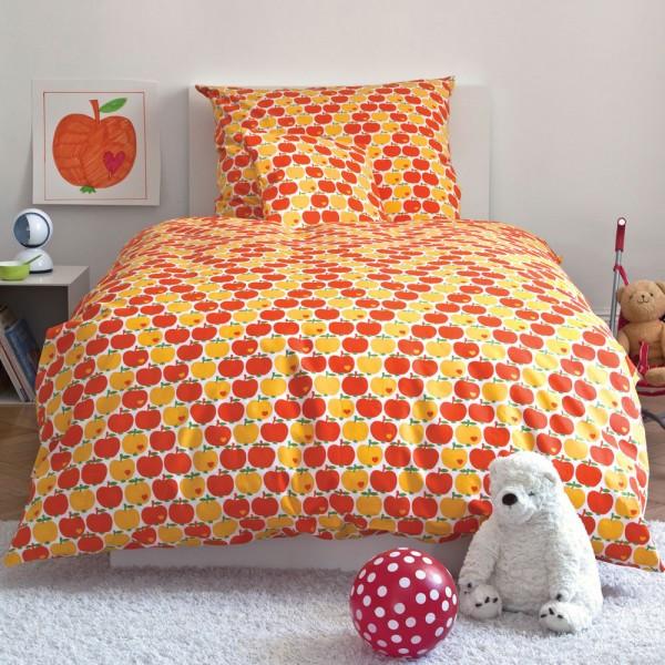 Bettwäsche By Graziela Im Klassischen Apfeldesign Orange